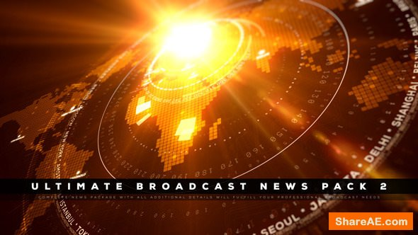 Videohive Ultimate Broadcast News Pack 2