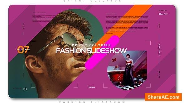 Videohive Bright Colorful Fashion Slideshow