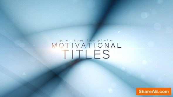 Videohive Motivational Titles