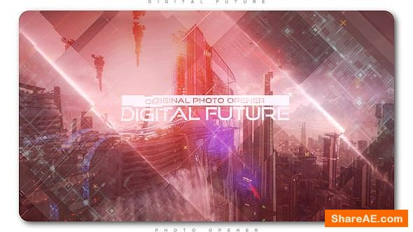 Videohive Digital Future Photo Opener