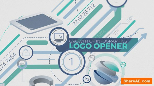 Videohive Growth Of Infographics Logo Opener