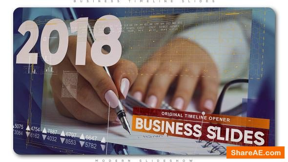 Videohive Business Timeline Slides