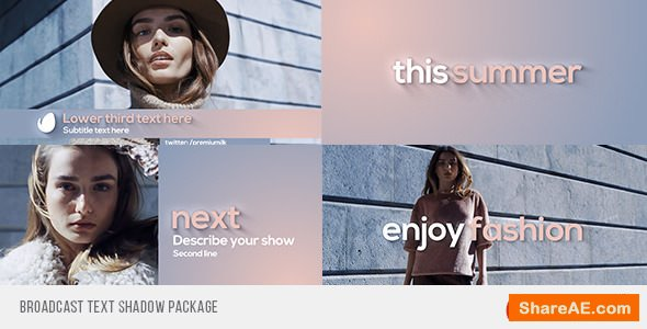 Videohive Broadcast Text Shadow Package