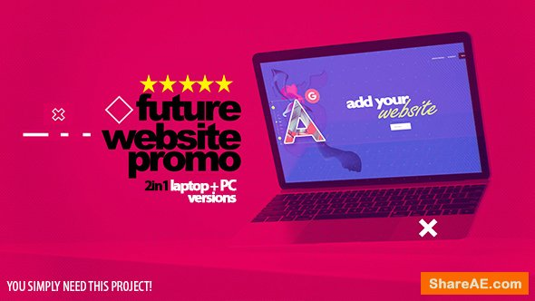 Videohive Future Website Promo 2in1