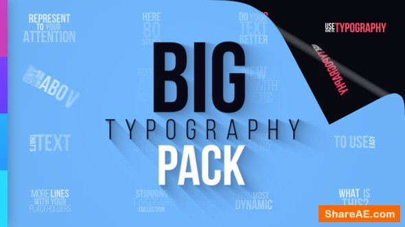 Videohive Big Typography Pack