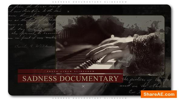 Videohive Sadness Documentary Slideshow » free after effects