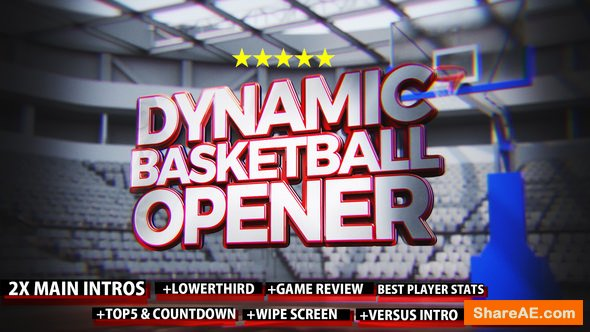Videohive Dynamic Basketball Opener/Intro