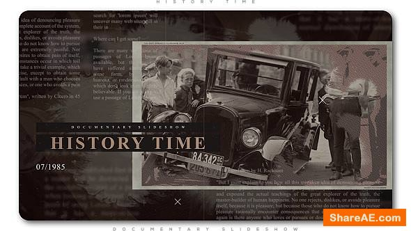 Videohive History Time Documentary Slideshow