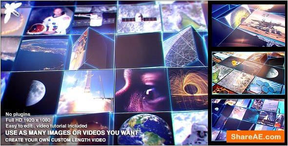 Videohive Mosaic Block Reveal - Tech