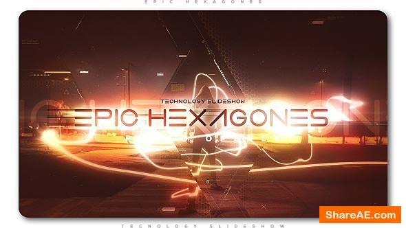 Videohive Epic Hexagones Technology Slideshow