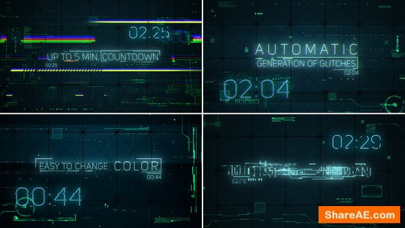 Videohive Hi-Tech Glitches (Countdown and Titles)