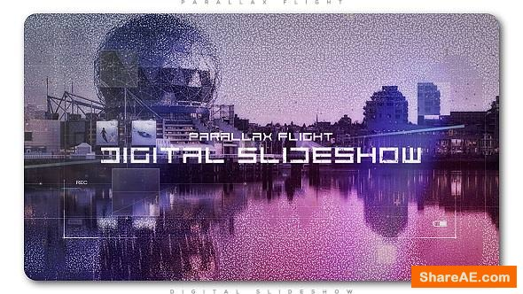 Videohive Digital Flight Parallax Slideshow