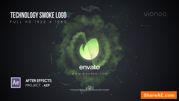 Videohive Technology Smoke Logo