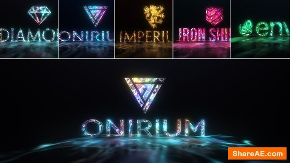 Videohive Gems & Lights - Gemstones Logo Reveal Pack