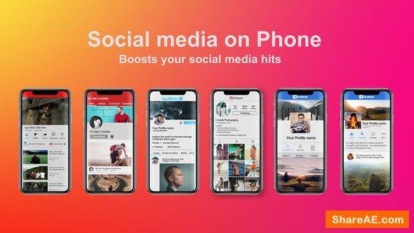 Videohive Social Media on Phone