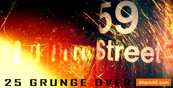 Videohive 25 Grunge Overlays - Motion Graphics