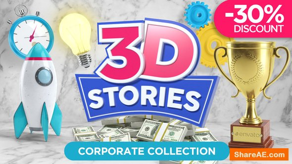 Videohive 3D STORIES | Icons Explainer Toolkit