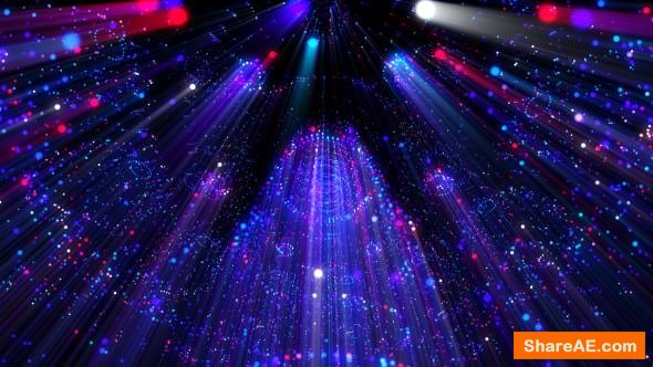 Videohive Particles Rays Stage Hall VJ Loop - Motion Graphic