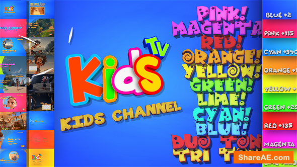 Videohive Kids And Family Channel Broadcast Graphics Package