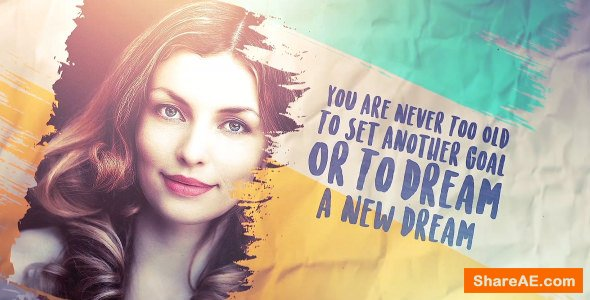 Videohive Brush Stroke slideshow Images and Quotes (2 Versions)