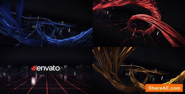 Videohive Digital Wire Ribbon Logo Reveals