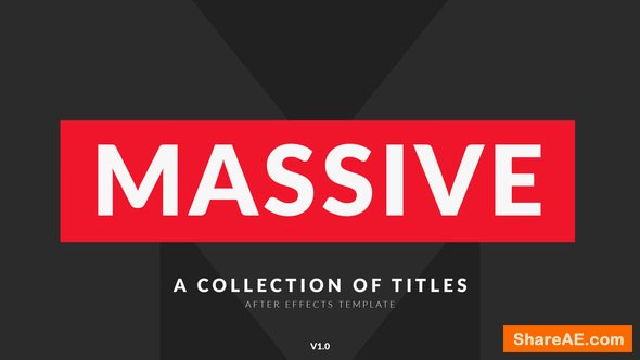 Videohive Massive | Titles Pack for After Effects
