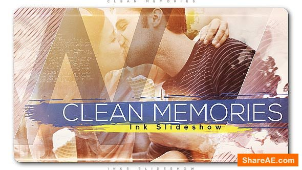 Videohive Clean Memories Inks Slideshow