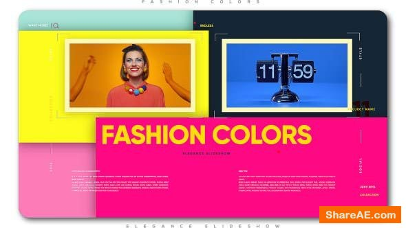 Videohive Fashion Colors Elegance Slideshow