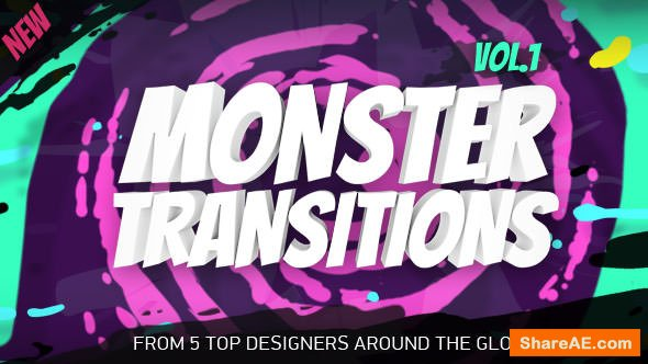 Videohive Monster Transitions - After Effects Presets