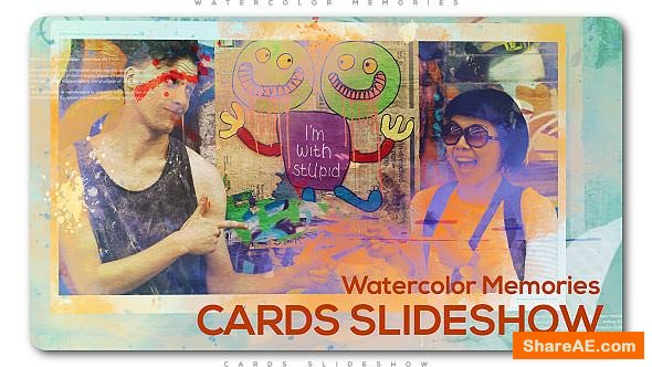 Watercolor Memories Cards Slideshow 20590519 Videohive