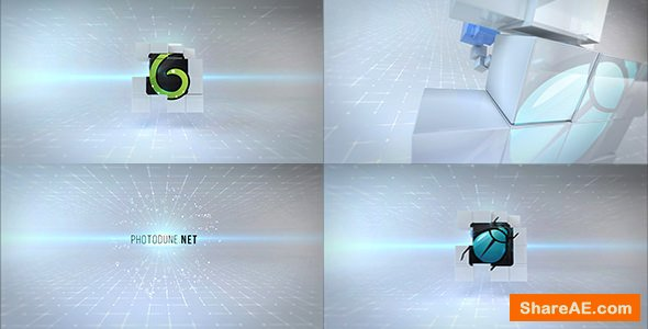 Videohive Clean Cubes Logo Reveal