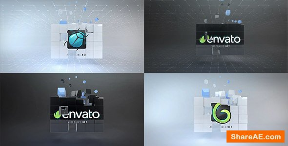 Videohive Corporate Cubes Logo Reveal