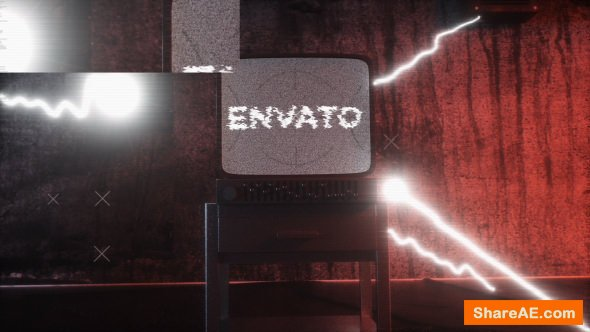 Old Distorted Horror TV Glitch Logo Opener 20663102 Videohive