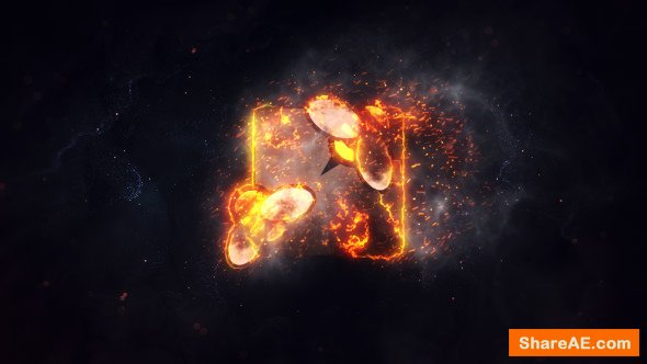Videohive Burning Fire Logo
