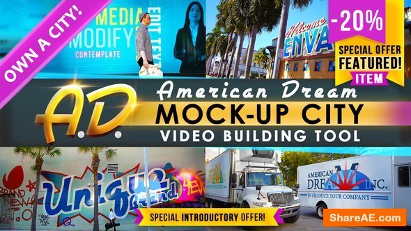 Videohive AD - City Titles Mockup Business Intro