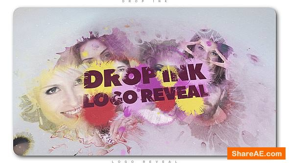 Videohive Drop Ink Logo Reveal