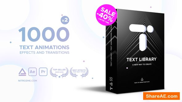 Videohive Text Library - Handy Text Animations v2