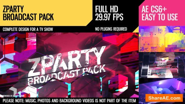 Videohive zParty (Broadcast Pack)