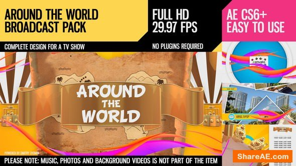 Videohive Around The World (Broadcast Pack)