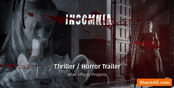 Videohive Insomnia - Thriller / Horror Trailer