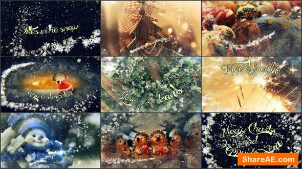 Videohive Titles in the Snow