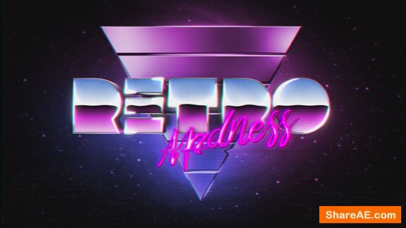 Videohive VHS Madness Logo Reveal