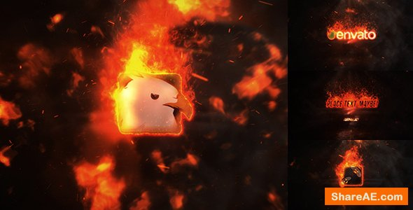 Videohive Exploding Burning Logo Reveal