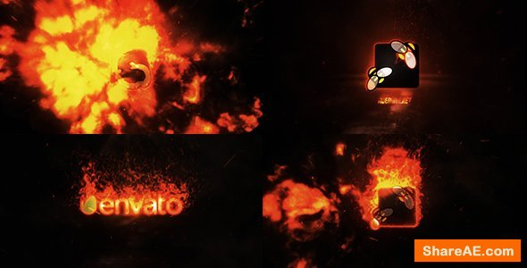 Videohive Fire Explosion Logo Reveal II » free after effects
