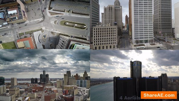 Videohive Detroit Aerials - Stock Footage