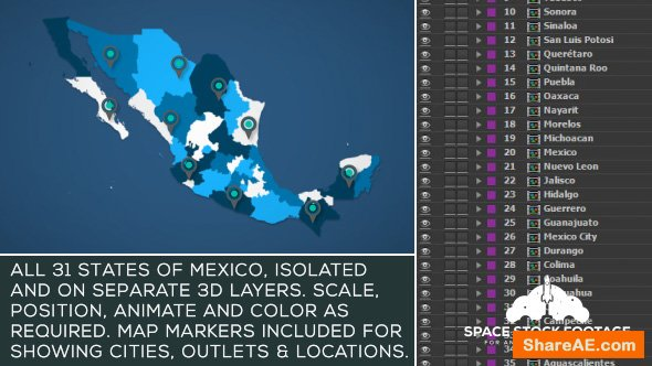 Videohive Mexico Map Kit