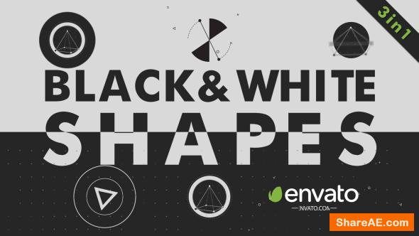 Videohive Black White Shapes