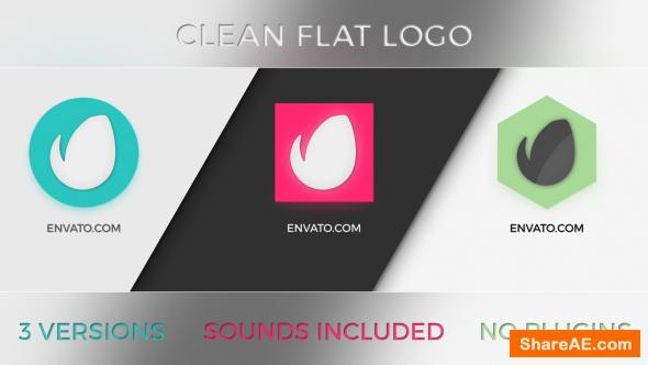 Videohive Clean Flat Logo 3 in 1