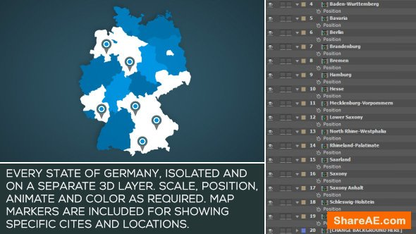 Videohive Germany Map Kit