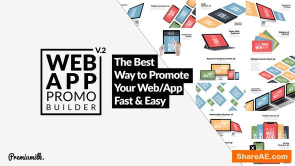 Videohive Web App Promo Builder